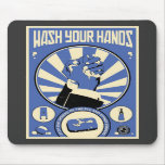 Office Propaganda: Wash your hands (blue) Mouse Mat