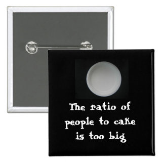 office space: Ratio of people to cake 15 Cm Square Badge