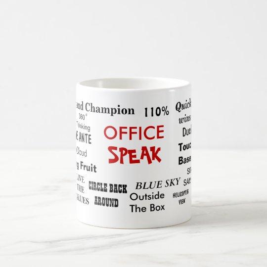 Office Speak Management Jargon Cliches Quotes Coffee Mug
