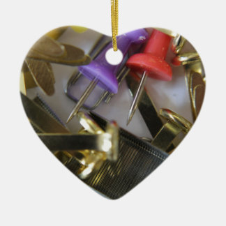 Office Stationary Ceramic Heart Decoration