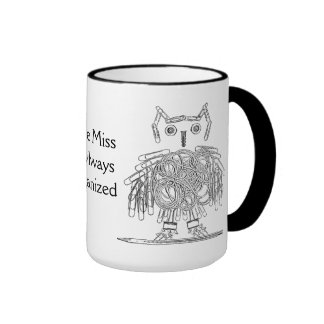 Office Supply Owl Funny Little Miss Organized Mugs