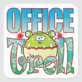 Office Troll Square Sticker