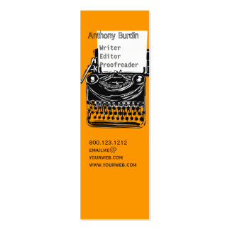 Office Typewriter Business Card Templates