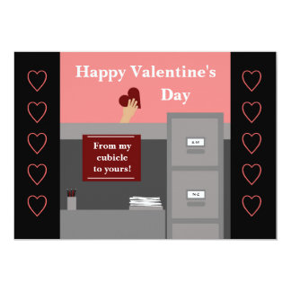 Office Valentine 13 Cm X 18 Cm Invitation Card