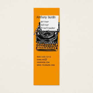 Office Vintage Typewriter Drawing Professional Mini Business Card