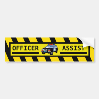 OFFICER ASSIST BUMPER STICKER