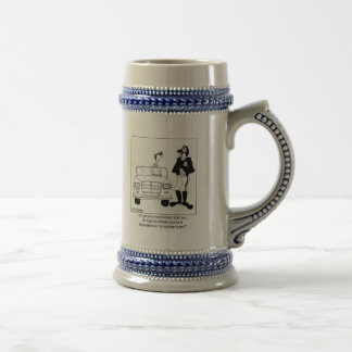 Officer declared as a dependent 18 oz beer stein