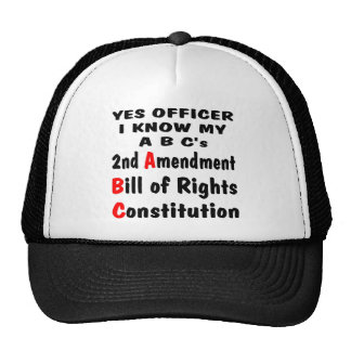 Officer I Know My ABC's 2nd Amendment The Bill Hat