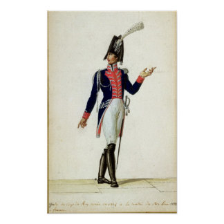 Officer of the Garde du Corps Poster
