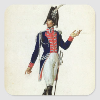 Officer of the Garde du Corps Square Sticker
