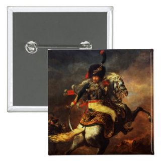 Officer of the Hussars, 1814 15 Cm Square Badge