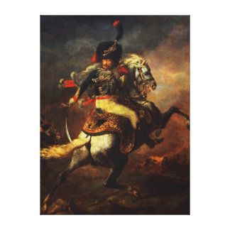 Officer of the Hussars, 1814 Canvas Print