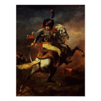 Officer of the Hussars, 1814 Poster