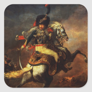 Officer of the Hussars, 1814 Square Sticker