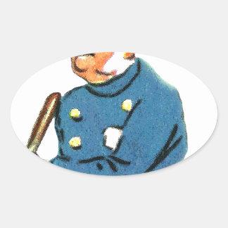 Officer On Duty Oval Sticker