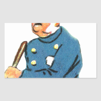 Officer On Duty Rectangular Sticker