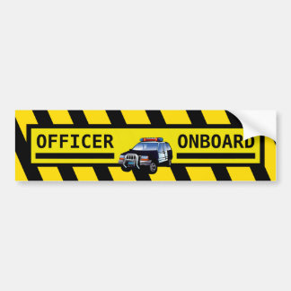 OFFICER ONBOARD BUMPER STICKER