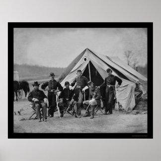 Officers in Gettysburg 1863 Poster