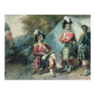 Officers of the 79th Highlanders Postcard