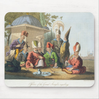 Officers of the Grand Seraglio Regaling, engraved Mouse Mat