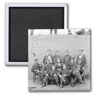 Officers on USS Monitor, 1862 Square Magnet