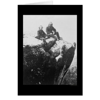 Officers Perched on Lookout Mountain, TN 1864 Card