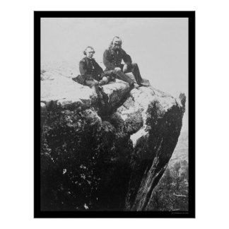 Officers Perched on Lookout Mountain, TN 1864 Poster