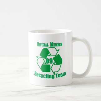 Official 2009 Recycling Team Basic White Mug