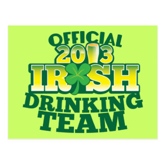 Official 2013 Irish DRINKING TEAM from The Beer Sh Postcard