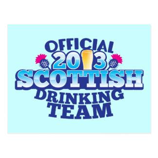 Official 2013 SCOTTISH DRINKING TEAM Postcard