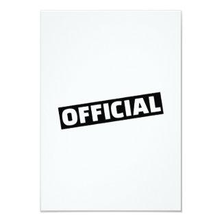 Official 9 Cm X 13 Cm Invitation Card