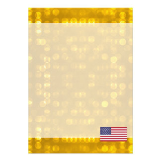 Official American Flag 13 Cm X 18 Cm Invitation Card