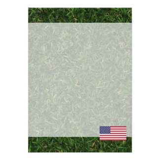Official American Flag 13 Cm X 18 Cm Invitation Card