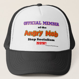 """Official Angry Mob Member"" Trucker Hat"
