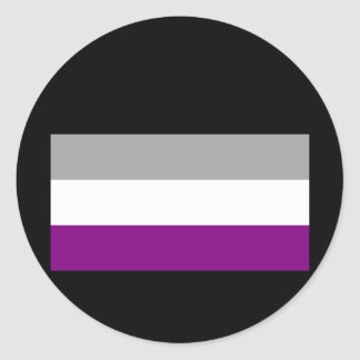 OFFICIAL ASEXUAL PRIDE FLAG ROUND STICKERS