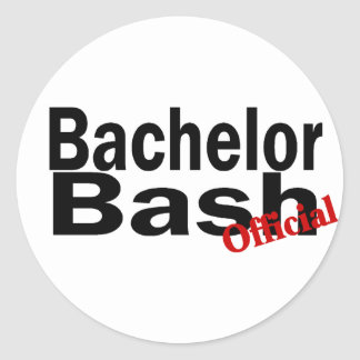 Official Bachelor Bash Round Sticker