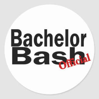 Official Bachelor Bash Round Stickers
