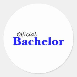 Official Bachelor (Blu) Round Sticker