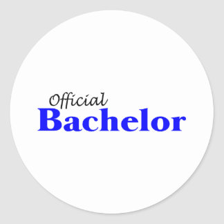 Official Bachelor Classic Round Sticker