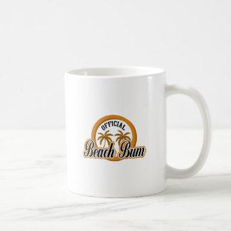 OFFICIAL BEACH BUM COFFEE MUG