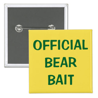 Official Bear Bait 15 Cm Square Badge