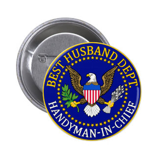 Official Best Husband Department Seal 6 Cm Round Badge