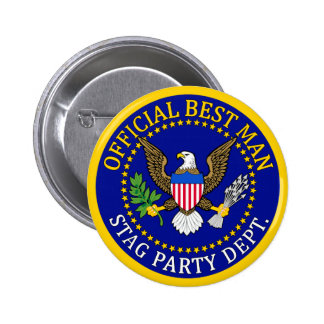 Official Best Man 6 Cm Round Badge