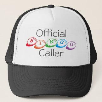 Official BINGO Caller in Colorful Lettering Trucker Hat
