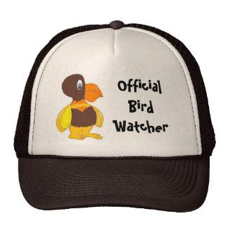 Official Bird Watcher- Cartoon Bird Cap