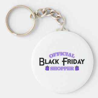 Official Black Friday Shopper (Purple) Basic Round Button Key Ring