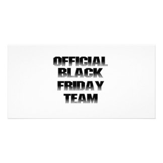 OFFICIAL BLACK FRIDAY TEAM PERSONALIZED PHOTO CARD