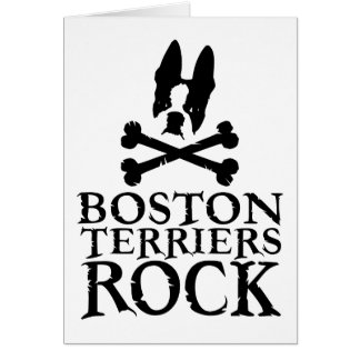 Official Boston Terriers Rock Merch Card