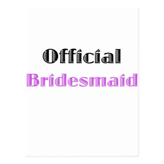 Official Bridesmaid Post Card