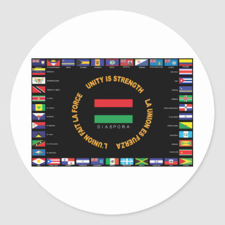 Official Caribbean Unity Flag Classic Round Sticker